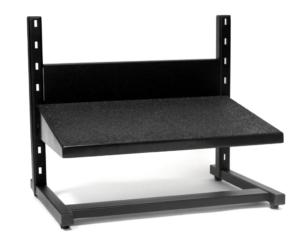 Large black adjustable footrest from ergoCentric.