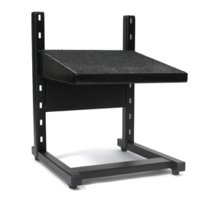 Small black adjustable footrest from ergoCentric.