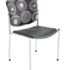 Armless ecoCentric Stacker from ergoCentric. Equipped with Chrome Frame and Black Plastic Seat