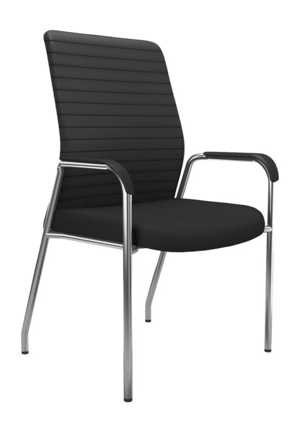 iCentric Mesh Guest Chair with Arms from ergoCentric. Equipped with Black Frame and Beige Seat